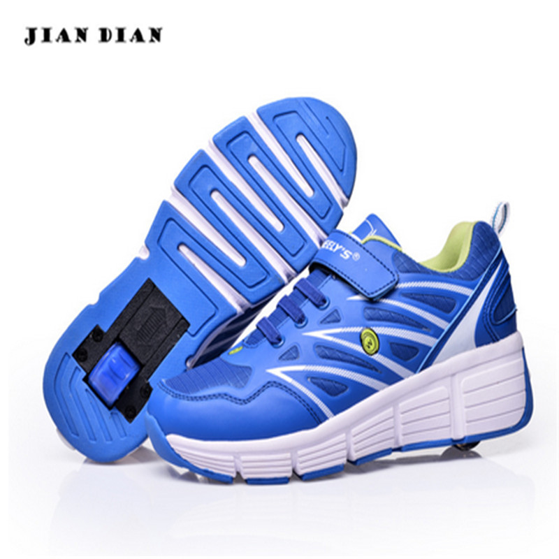 ФОТО New Boys girls wheel shoes children's shoes with wheels child roller shoes outdoor sneakers Size 29-42