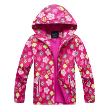 купить Waterproof Index 5000mm Windproof Child Coat Baby Girls Jackets Warm Children Outerwear Clothing For 3-12 Years Old дешево