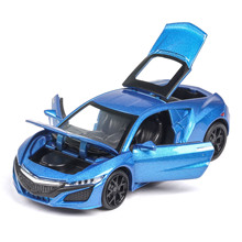 1/32 Diecasts & Toy Vehicles Acura coupe Car Model Four doors opened With Sound&Light Collection Car Toys For Boy Children Gift 1 32 diecasts