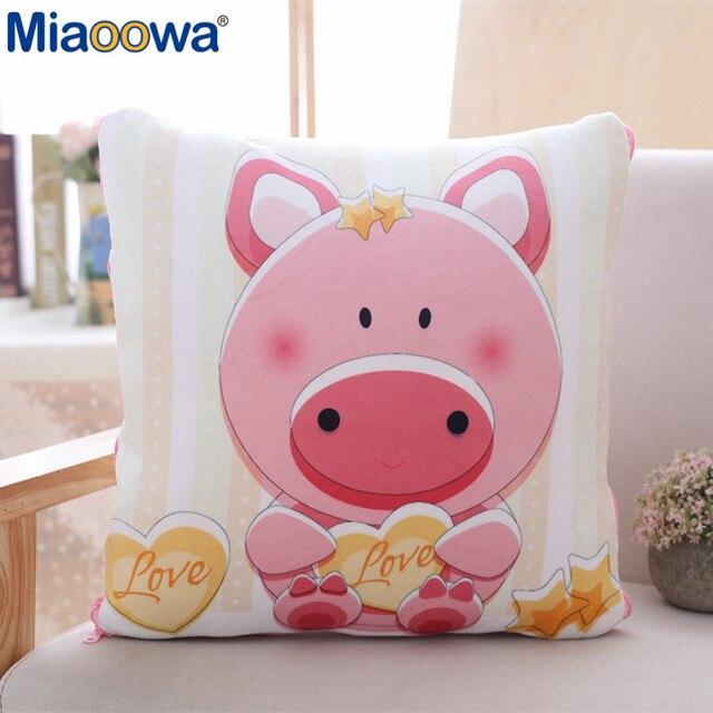 1 pc 40*40 cm Travesseiro Porco cor de Rosa Com Colcha de Tecido Macio E Confortável Para As Crianças Como UM presente de Aniversário presente