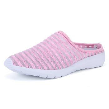 2018 Women Sandals Summer Shoes Half Slippers Flip Flops Mesh Breathable Shoes Sandals Clogs Shoes Woman Platform Big Size 35-40 4