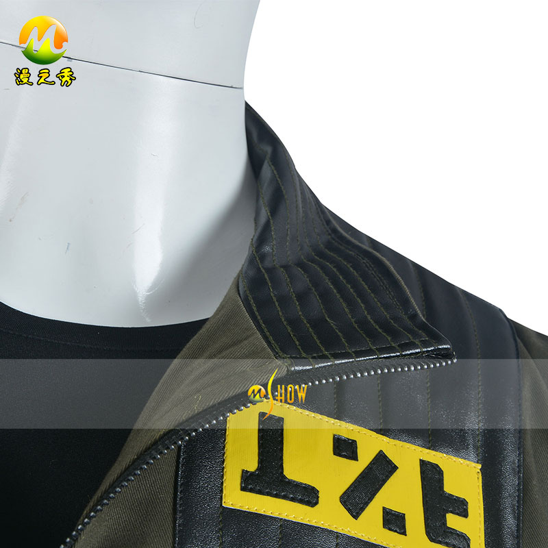 New Arrival Punk Band My Chemical Romance Frank Iero Cosplay Costume Leather Jacket for Halloween Party