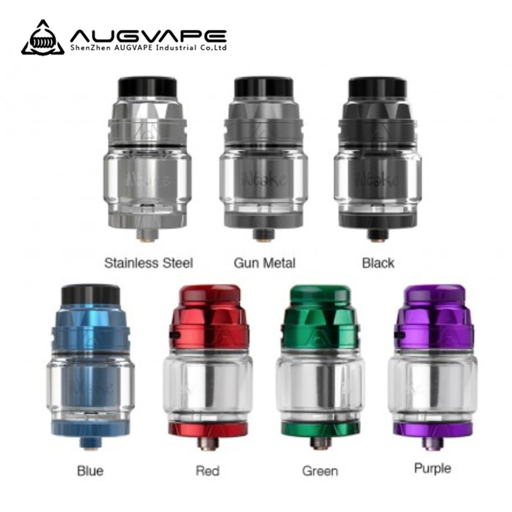 Augvape INTAKE RTA Elektronisk Cigarett Atomizer Läckage Proof Bottom Airflow Direkt Till Spole Singel Spole 24mm 4.2ml Atomizer Tank