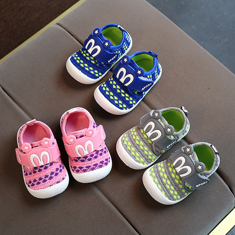 2017 Autumn New Baby Shoes Soft Sole Girls Boys Children Sneakers Sound  Kids Casual Rubber Shoes 0 1 1 3years -in Sneakers from Mother   Kids on ... 35307bdf92a7