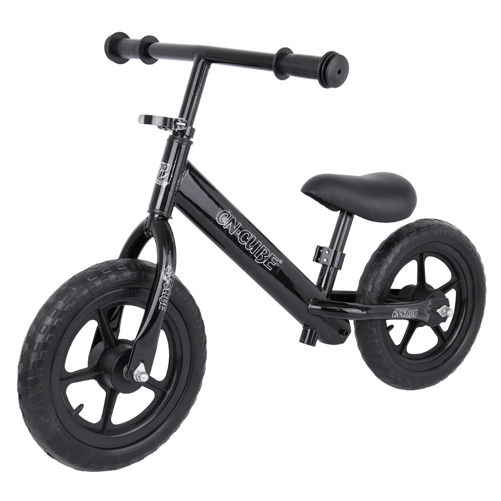 (Shipping From AUD ) 12 Kids Balance Bike Child Push No Pedal Scooter Training Bicycle Black 2 wheel electric balance scooter adult personal balance vehicle bike gyroscope lithuim battery