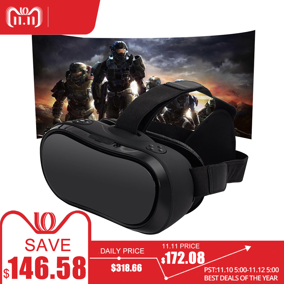 VR Box 3D Virtual PC Glasses All In One Virtual Reality Glasses 2560*1440 for PC PS 4 Xbox One Host 5.5 Inch Screen FHD Display vr all in one virtual pc glasses virtual reality goggles 3d headset vr box for ps4 xbox one game console 2560 1440 android 5 1