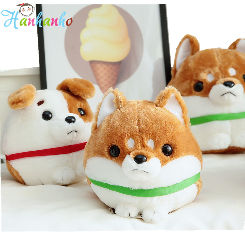 цена на Super Fluffy Round Shape Puppy Plush Toy Soft Dog Doll Kids Birthday Gift Christmas Present Stuffed Animal Toys 30cm