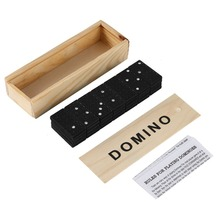 Dominoes Set- 28 Piece Domino Tiles Set Handcrafted Classic Numbers Table Game with Wooden Storage Case