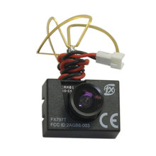 FPV 5.8G 25mw 40 Channels Transmitter + Camera 600TVL 120 Degree Combo with Antenna FX797T for Drone Quadcopter
