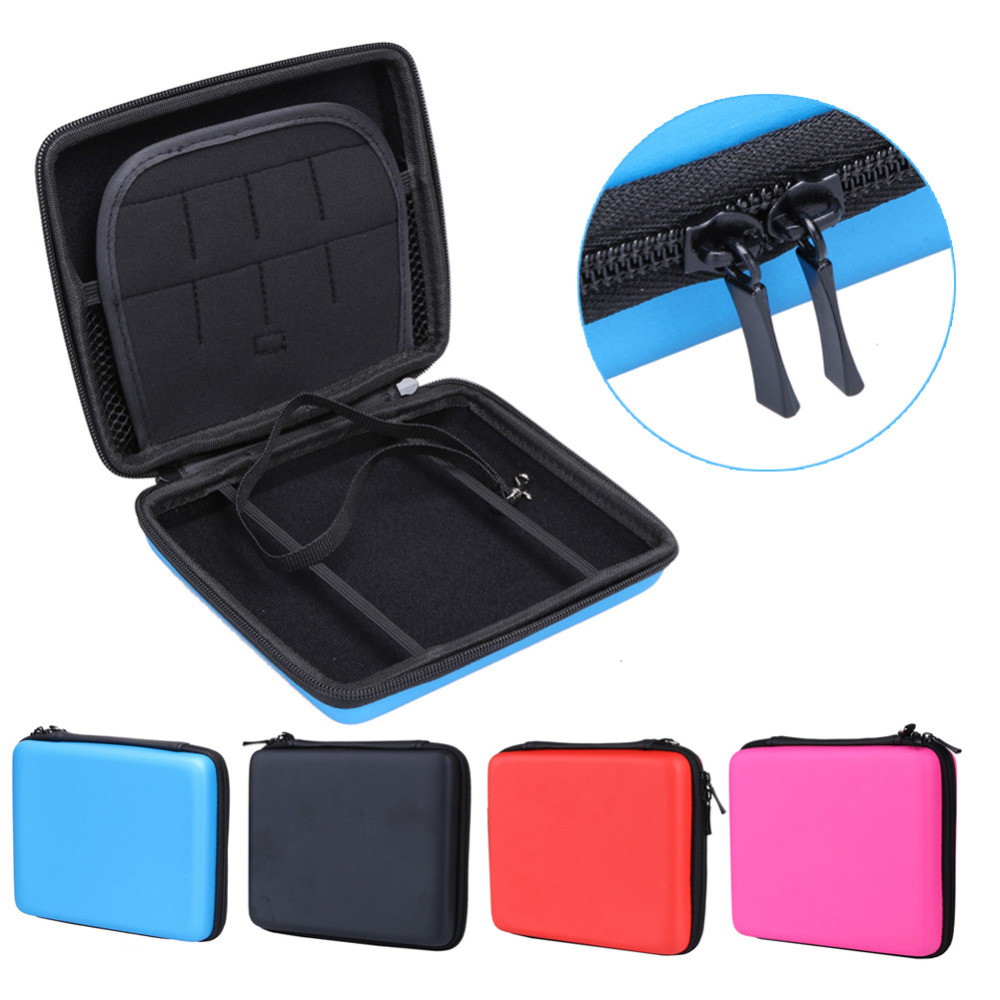 New Hard EVA Storage Zip Case Protective Holder For Nintendo 2DS Case Game Card Shell Cover Bag High Quality Game Card Shell New