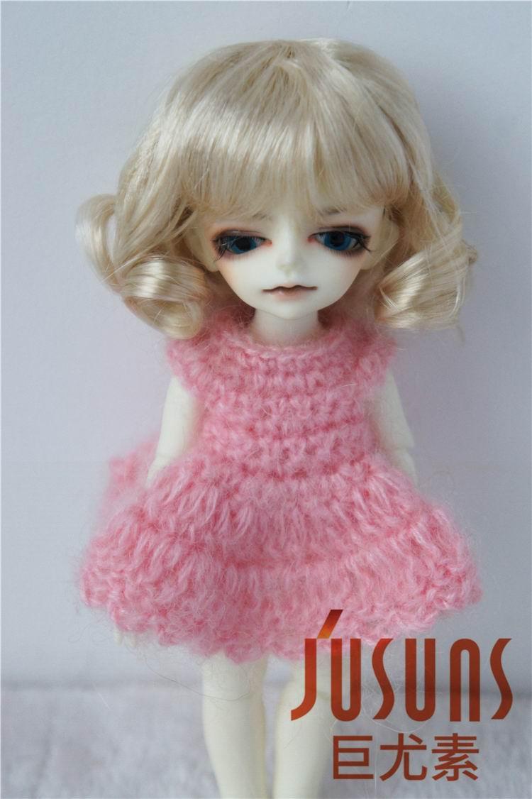 JD164 1/12 1/8 Moda Sintetička moher BJD lutka perika veličina - Lutke i pribor - Foto 4