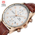 Мужские Часы TSS Золотой оболочки кофе поверхности Relojes Hombre 2016 Top Brand Роскошные водонепроницаемый Кварцевые Часы Часы Мужчины Наручные Часы