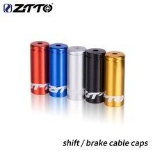 ZTTO 10 шт., алюминиевый сплав, Велосипедный тормозной кабель, наконечники, велосипедный переключатель, сменный кабель, заглушки, внутренняя проволока, наконечники, Новинка