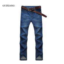 2017 new style men's casual fashion jeans men high quality trousers embroidery Pure cotton solid straight jeans large size 28-42
