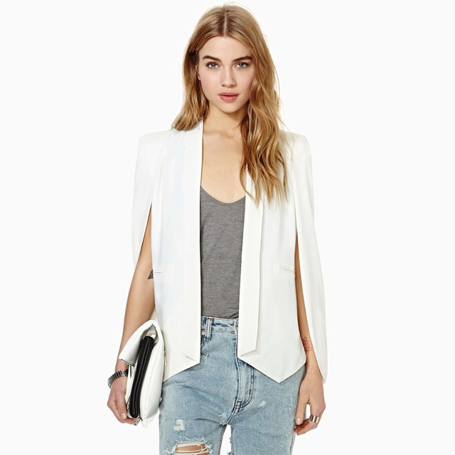 Women Blazers new fashion autumn cloak shawls blazer none button closure casual blazers 2 colors  SC2204