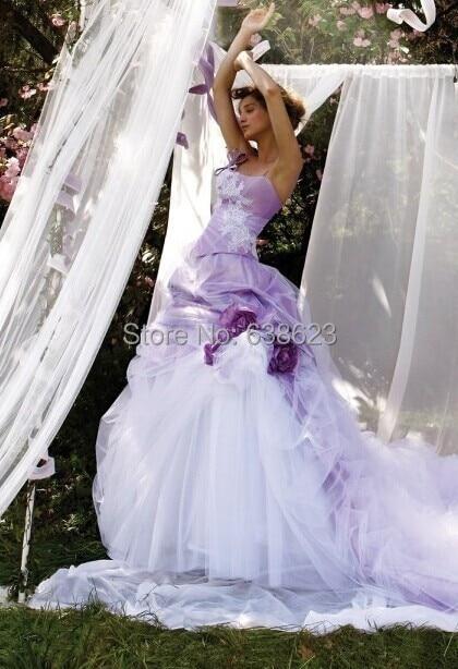 Wedding Dresses Purple Flowers
