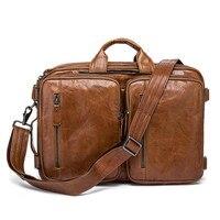 Luxury Real Genuine Leather Men Bags Business Lapto Briefcase Tote Bag Multi fuction Handbags Men's Casual Crossbod Shoulder