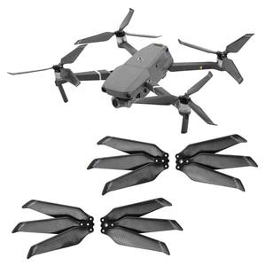 Image 1 - 4 adet 8743F karbon Fiber pervane DJI Mavic 2 Pro Zoom Drone 3 bıçak katlama bıçak sahne Mavic 2 yedek pervane parçaları
