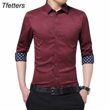 TFETTERS New Arrival Plus Size Mens Formal Shirts Meteor Pri