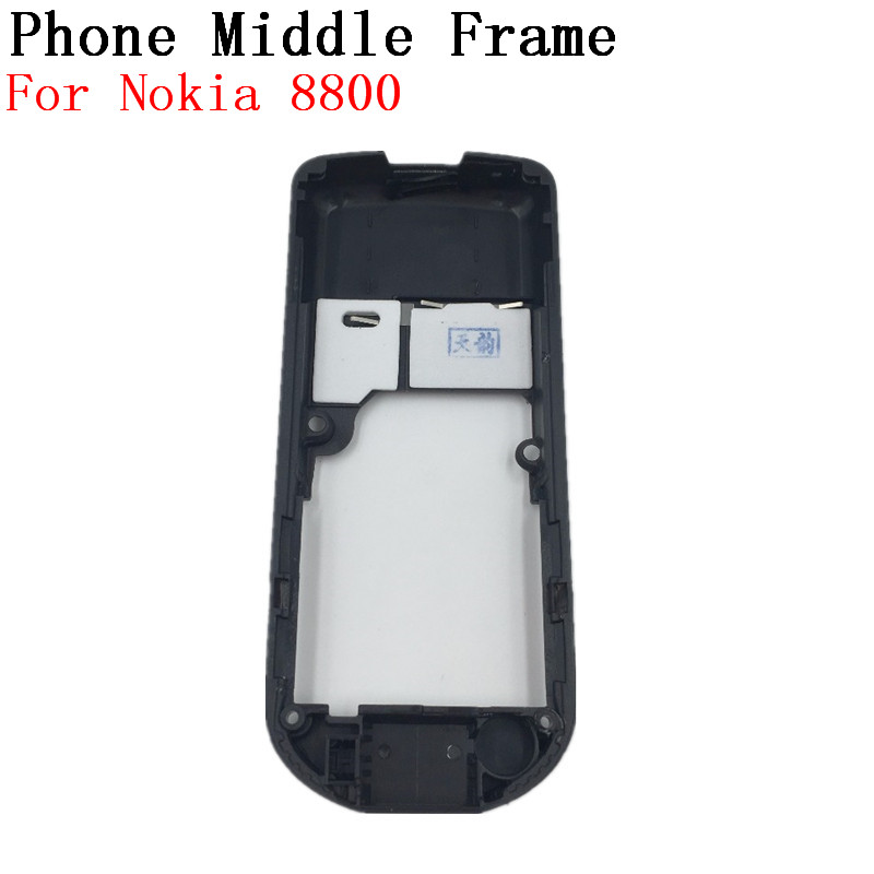 RTBESTOYZ For Nokia 8800 Black Housing Black Middle Frame Replacement Black Middle Frame For Nokia 8800