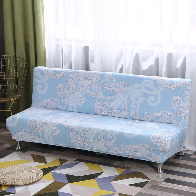 Universal Size Armless Sofa Bed Cover Folding Seat Slipcovers Stretch Covers Couch Protector Elastic Bench Futon 70