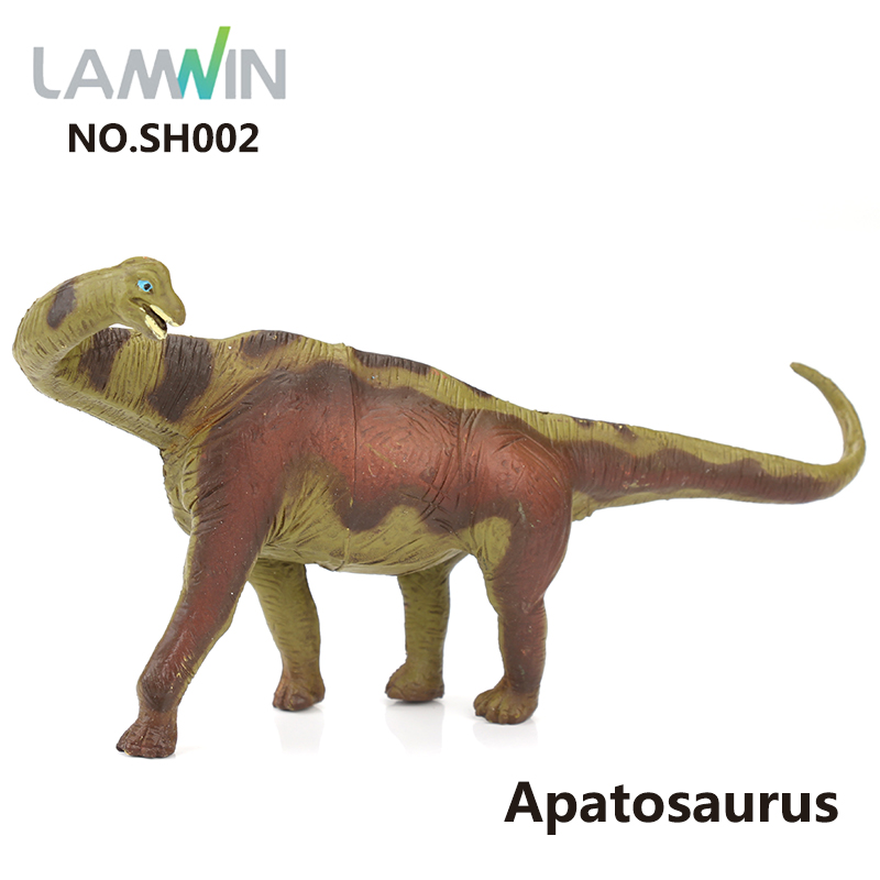 Lamwin Simulation Small Dinosaur PVC Plastic Toy Jurassic World Park Action Figure Apatosaurus Model lamwin 6pcs lot large dinosaur toy collection set jurassic world park hollow model figure free gift dinossauro egg
