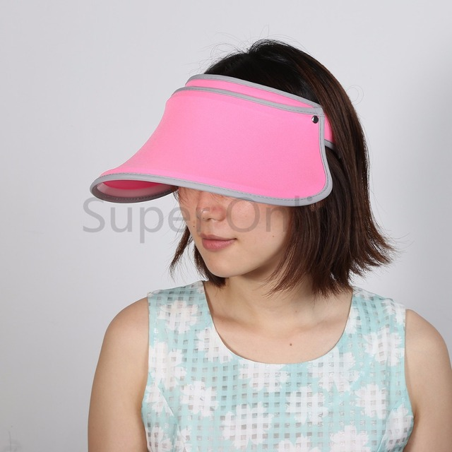 Summer Beach Women Sunshade Cap Brim Wide Visor Hat Outdoor Sports Foldable  UV Protection 8db4030aae