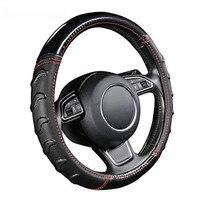 Fashion Massage Steering Wheel Cover For Nissan pathfinder patrol y61 y62 primera p12 PULSAR QASHQAI j10 j11 2011 2017 2018
