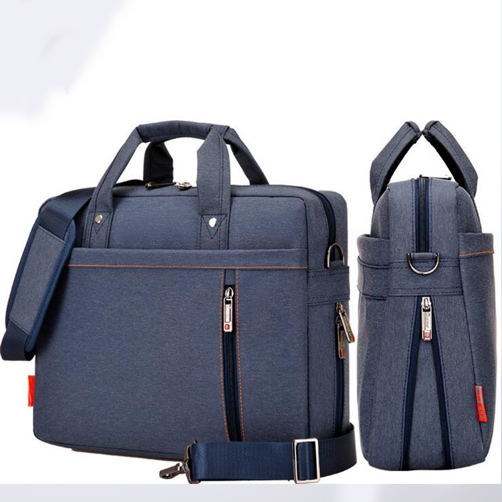 Laptop bag 17 15 14 13 inch big size Shockproof airbag waterproof computer bag bags Case Messenger Shoulder unisex men women 13 14 15 17inch big size nylon computer laptop solid notebook tablet bag bags case messenger shoulder unisex men women durable