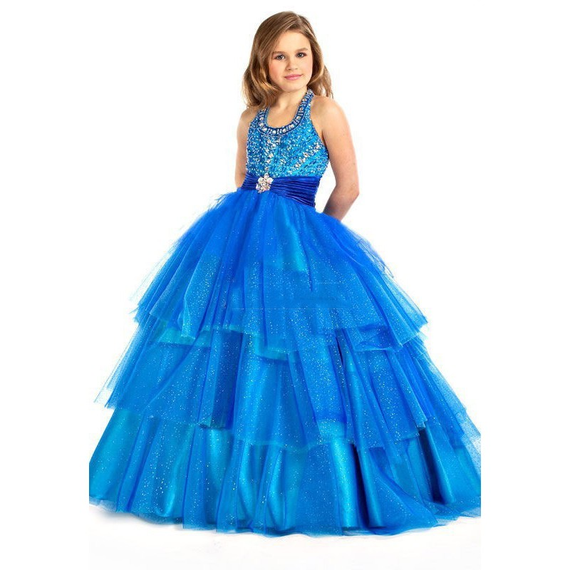 Popular Blue Pageant Dresses for Girls-Buy Cheap Blue Pageant ...