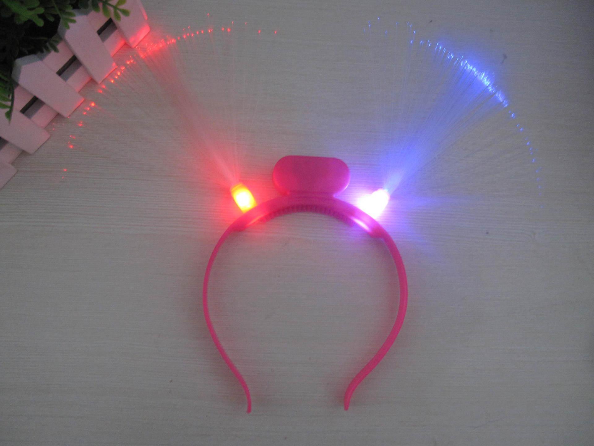 20pcs / lot Svijetleći LED vlakna rog stranka žare traka za kosu - Za blagdane i zabave - Foto 4