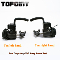 Topoint Archery Compound Bow Accessories CNC Aluminum Right Hand and Left Hand Series Alloy Bow Drop Away Fall Away Arrow Rest