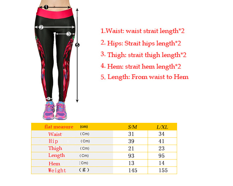 women sport leggings size