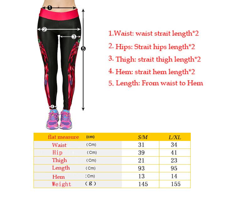 women sport leggings size