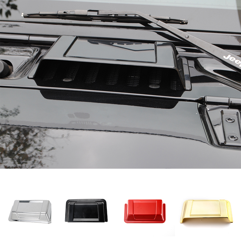 MOPAI 4 Color ABS Car Exterior Air Intake Cap Hood Scoop Cover Decoration Stickers For Jeep Wrangler 2007 Up Car Styling mopai new arrival car exterior rear triangle glass decoration cover stickers for jeep compass 2017 up car styling