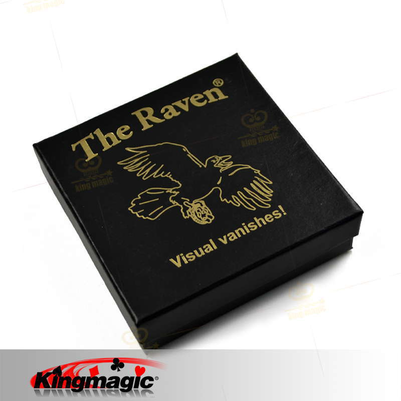 Free Shipping The Raven Magic Tricks/ Great Visual Vanishing Coin Magic close-up Street professional Magic products toys