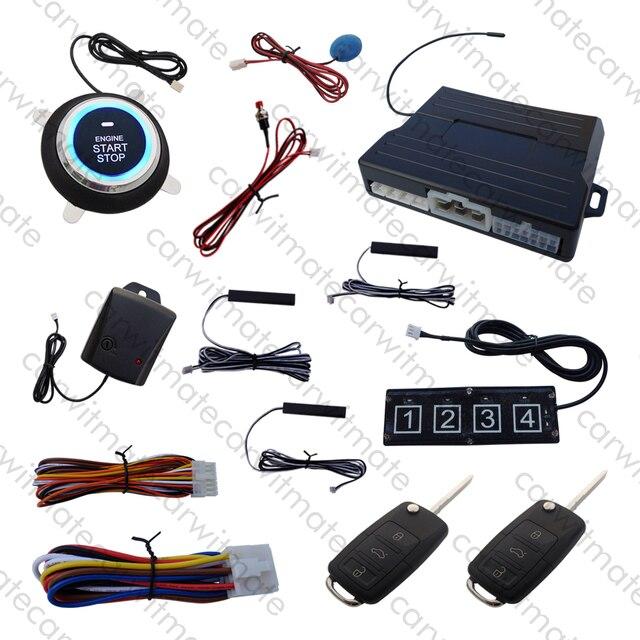 Rolling Code PKE Car Alarm System Passive Keyless Entry Remote Start ...