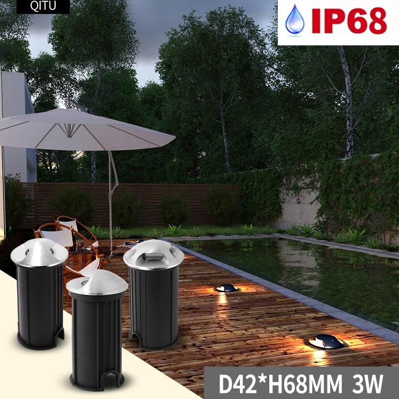 Spot extérieur souterrain lumière intégré LED côté tir jardin Yard IP68 étanche enterré sol carré 12-24 V Mini trou Spot