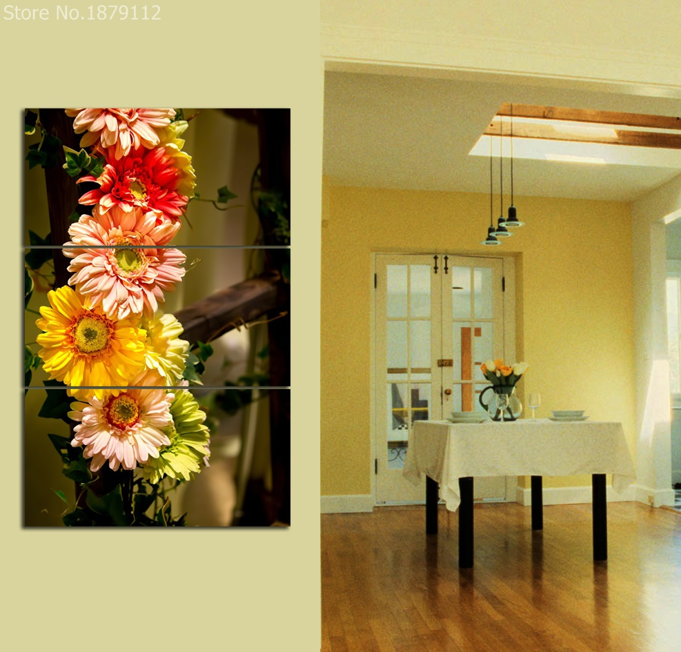 Hot Carnations Colorful Flower Spray Painting Canvas Art Poster Wall ...