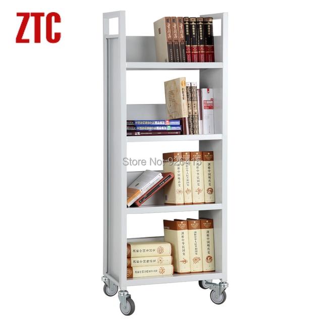 Library Bookshelf Cart Trolleysingle Sided With 4 Sloped Shelves Book Truckmobile