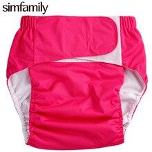 [Simfamily] 1 Pc Adulte Couches Lavables, Incontinence Pantalon, de Travail avec Lingette Jetable, en gros Vente pour enfants Enfants Couches