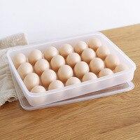 プラスチック卵収納ボックス24グリッド卵ボックス食品容器オーガナイザー便利な収納ボックス多機能野菜室キッチン製