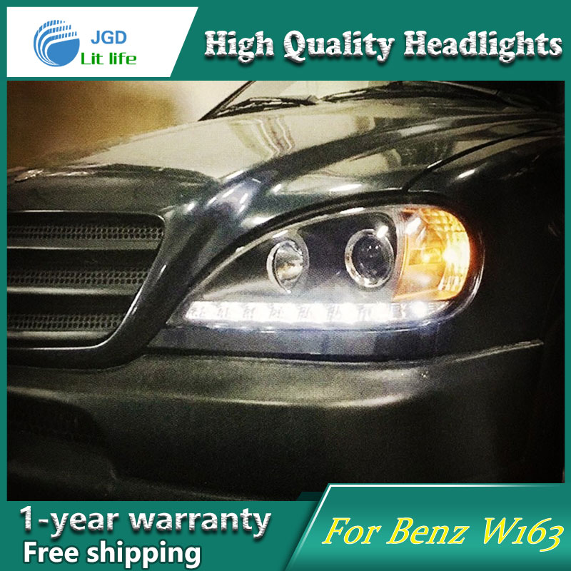 Auto Clud Style LED Head Lamp for Benz W163 ML320 ML280 ML350 ML430 led headlights signal led drl hid Bi-Xenon Lens low beam auto clud style led head lamp for benz w163 ml320 ml280 ml350 ml430 led headlights signal led drl hid bi xenon lens low beam