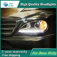 Auto Clud Style LED Head Lamp for Benz W163 ML320 ML280 ML350 ML430 led headlights signal led drl hid Bi Xenon Lens low beam