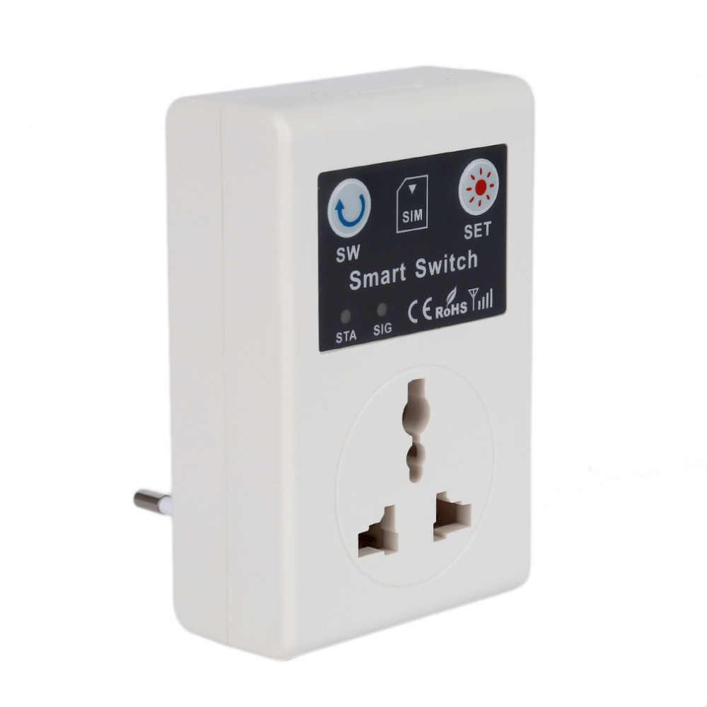10А 220 в телефон RC беспроводной пульт дистанционного управления смарт-переключатель GSM розетка с USB портом настенная розетка квадратная UK/EU GSM Разъем питания