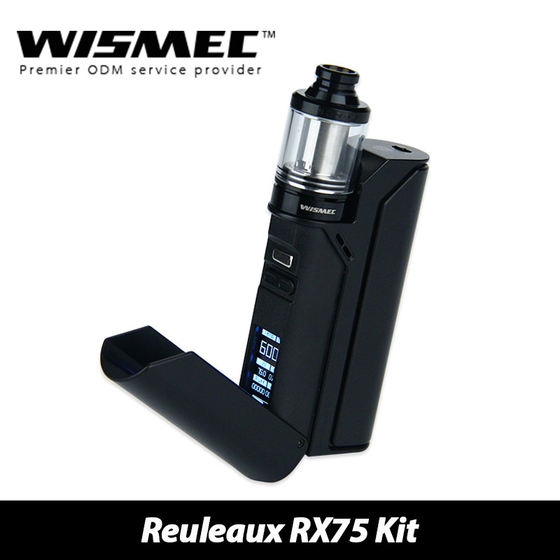 100% Original Wismec Reuleaux RX75 Starter Kit with TC 75W Reuleaux RX75 Box Mod and 2ml Amor Mini Atomizer E-cig Vaping original smy 75w mini tc box mod