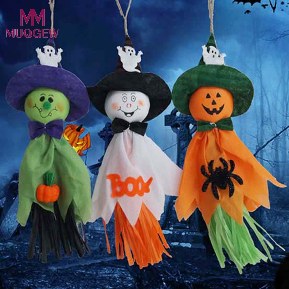 lovely cute ghost halloween decoration festival party supplies kids funny joking toy green orange white
