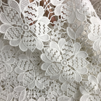 Brand Water Soluble Hollow Milk Silk Heavy Guipure Lace Fabric White African Lace Clothing Accessories 1 Yard