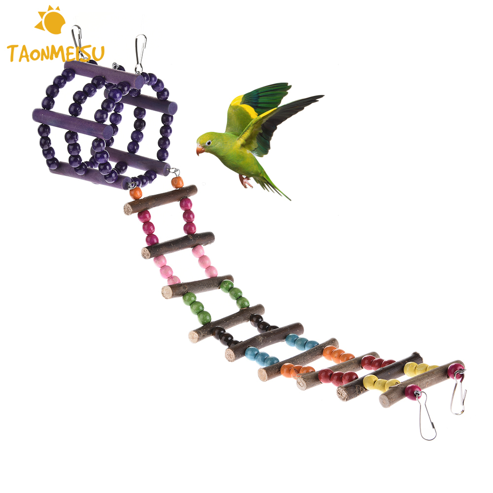 Parakeet Toys And Accessories : Parrot ladder toy climbing parakeet drawbridge