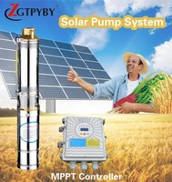 solar water pump high head 96v solar powered water pump for home/irrigation dc submersible water pump water deep well pump set